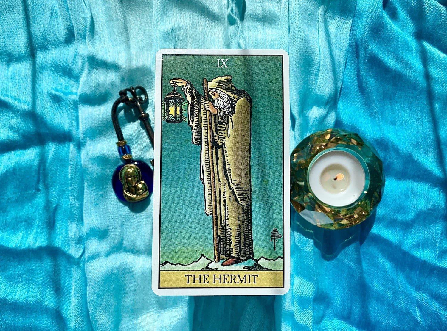 The Hermit Card of the tarot.