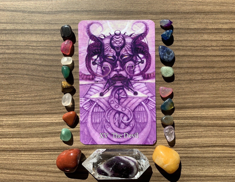 Tarot: The Devil Card by Mary-El Tarot, by Marie White (author)