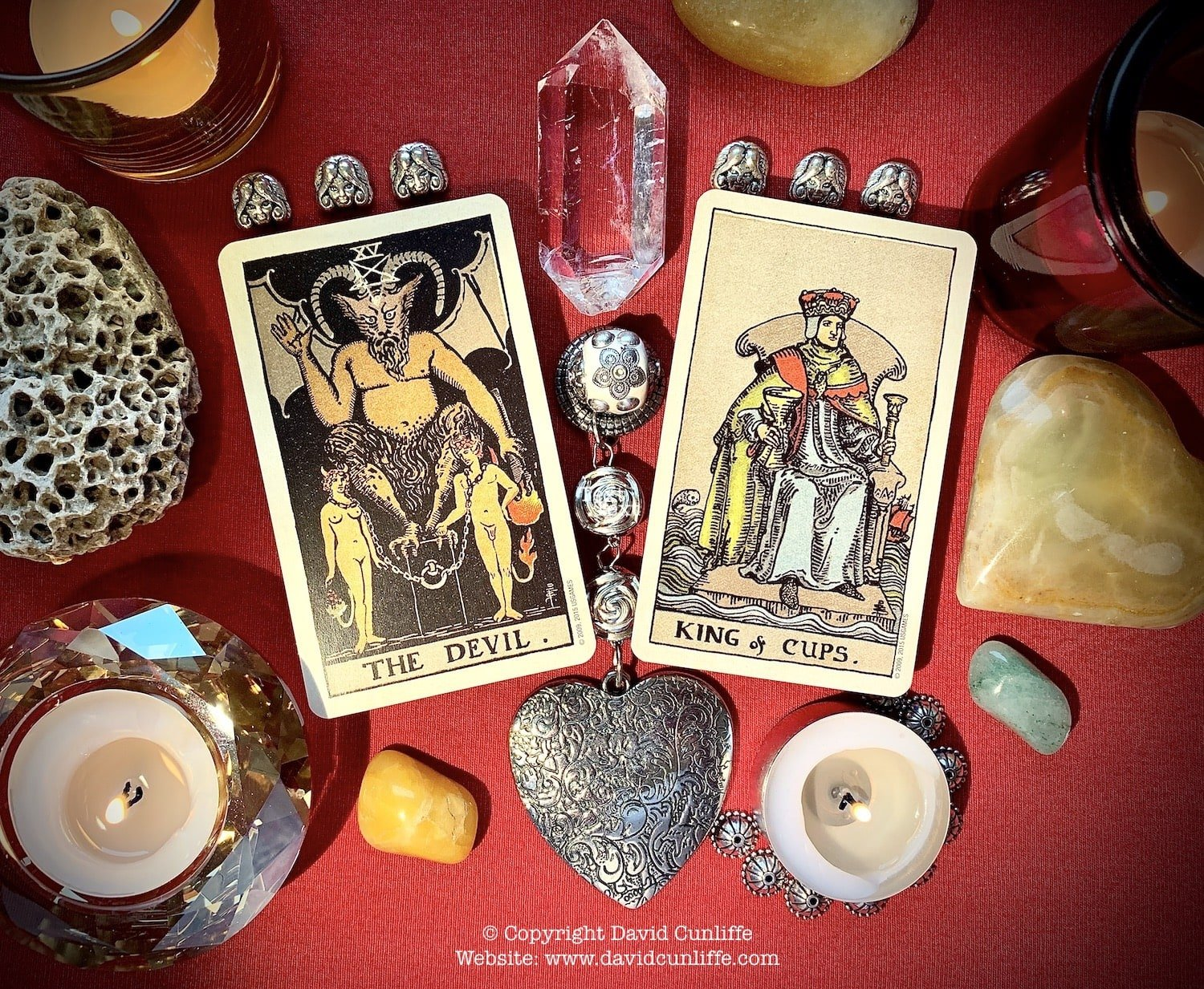 Tarot, the Devil card and the King of Cups card.