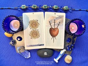 Two of Pentacles and Three of Swords