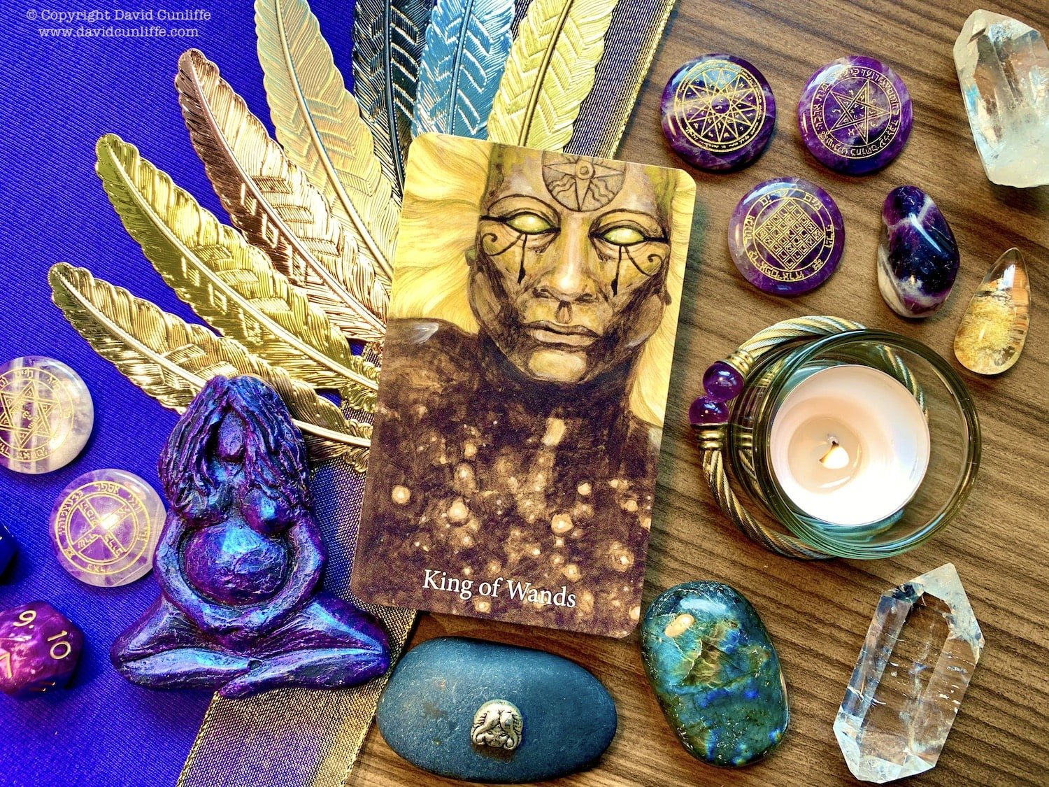 Tarot: King of Wands from the Mary-El Tarot, the second edition by Marie White (author)
