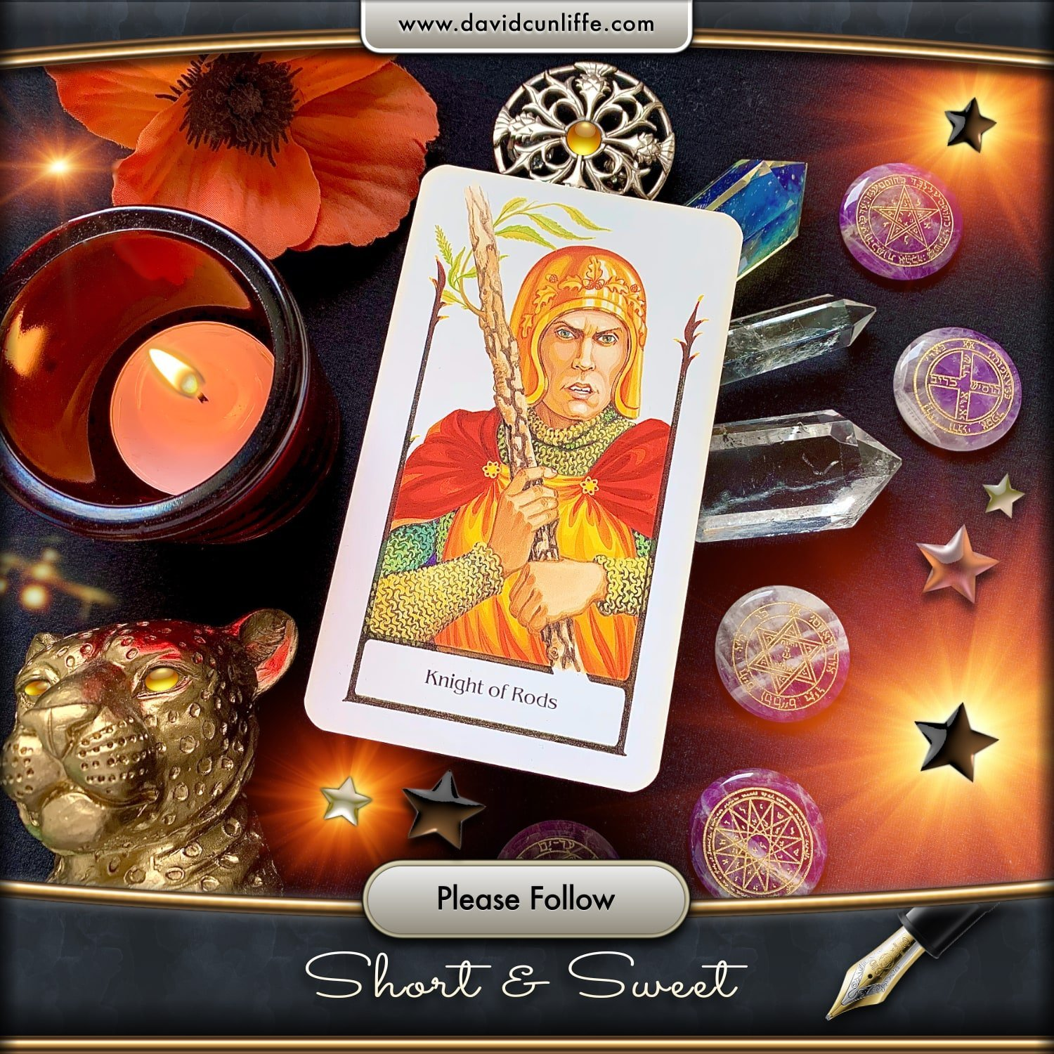 Knight of Wands: Tarot of the Old Path by Sylvia Gainsford