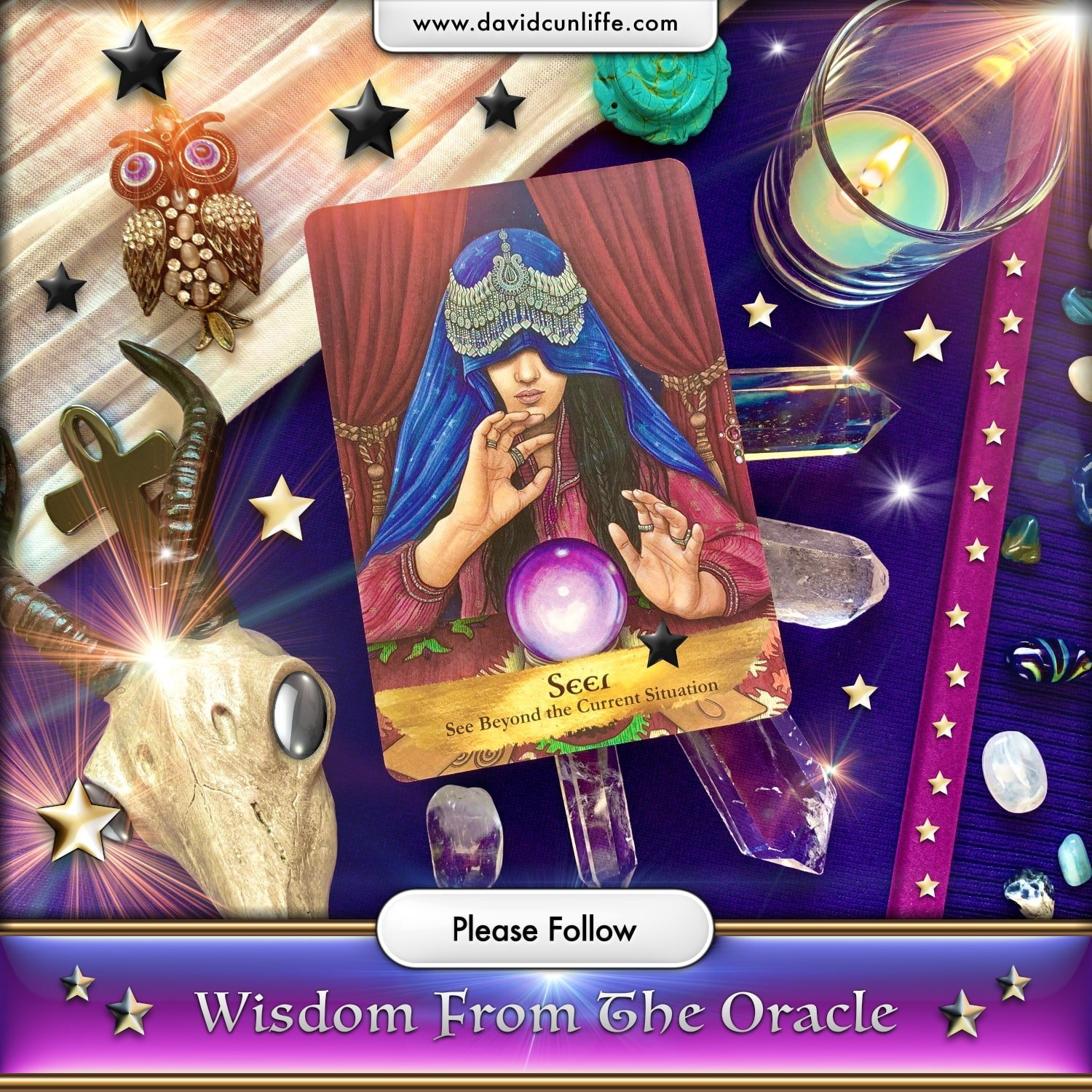 The Seer Card Angels and Ancestors Oracle Deck By Kyle Gray